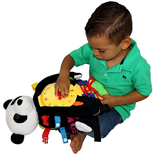 """Electric Pedal Bike >> BUCKLE TOY """"Bamboo"""" Backpack Panda – Toddler Life Skills ..."""