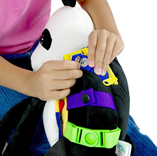 Buckle Toy Bamboo Backpack Panda Toddler Life Skills