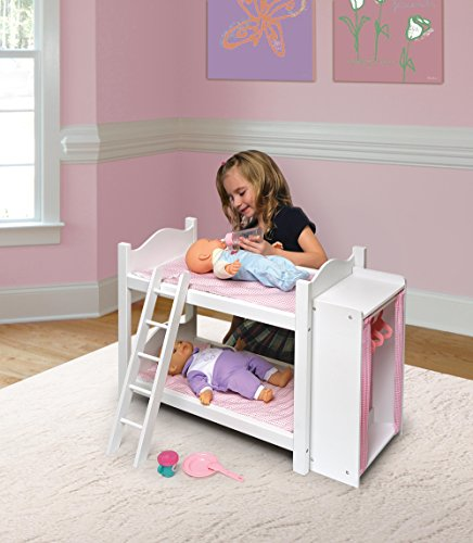 Doll Bunk Beds With Ladder And Storage Armoire
