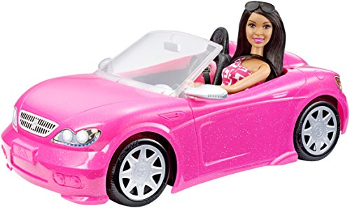 Barbie Convertible And Doll Pack Dark Hair Hobby