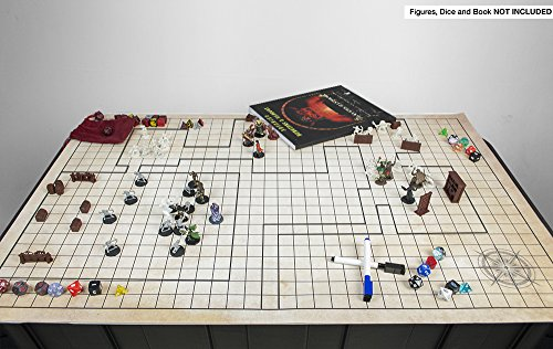 Battle Grid Game Mat 48 X 34 5 Jumbo Role Playing