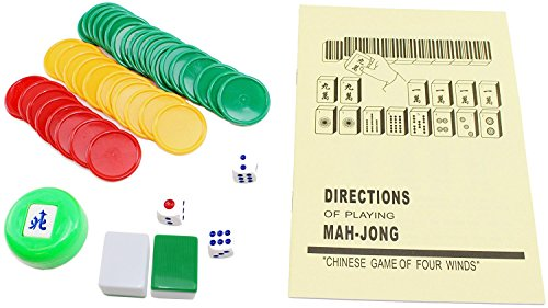 Chinese Numbered X Large Tiles Mahjong Set 144 Tiles 1 5