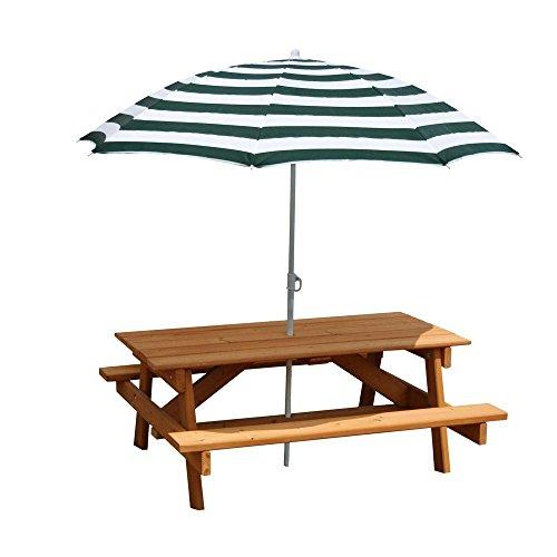 Gorilla Playsets Children S Picnic Table With Umbrella