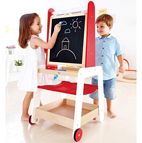 Hape Kids Create And Display Adjustable Wooden Art Easel