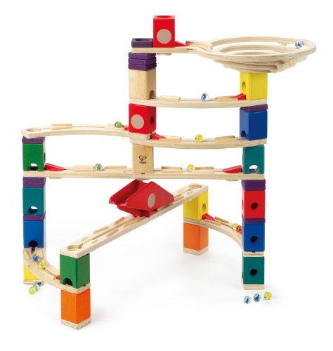 Hape Quadrilla Wooden Marble Run Construction Speedway