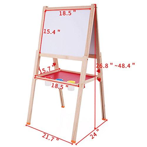jaxpety 2 in 1 children black white board easel stand dry erase board chalkboard hobby. Black Bedroom Furniture Sets. Home Design Ideas