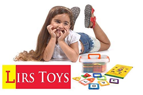 Lirs Toys 72 Pcs Magnetic Blocks Magnetic Tiles