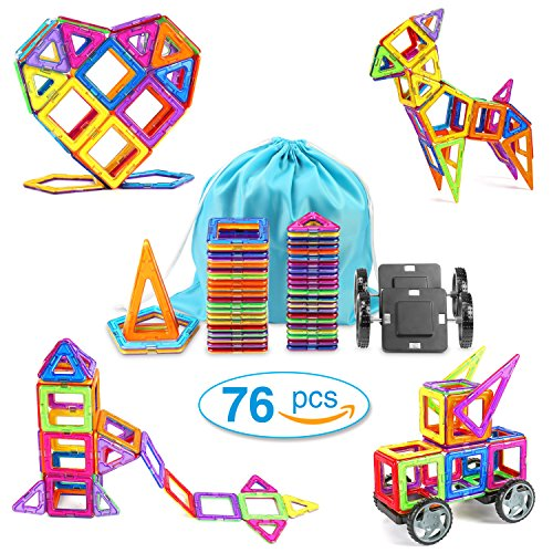 Germany Building Toys For Boys : Magnetic blocks building set toys for kids funkoo pcs