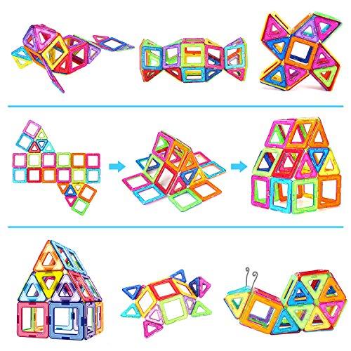 Magnetic Toys For Boys : Magnetic blocks building set toys for kids toqibo pcs