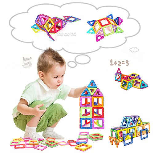 Construction Toys For Girls : Magnetic blocks building set toys for kids toqibo pcs