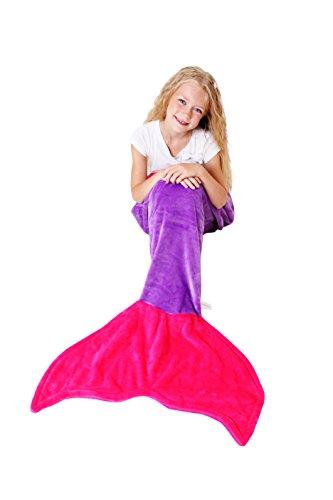Mermaid Tail Blanket Super Soft Amp Warm Minky Fleece