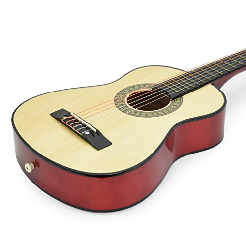 new 30 natural wood guitar with case and accessories for kids girls beginners hobby. Black Bedroom Furniture Sets. Home Design Ideas