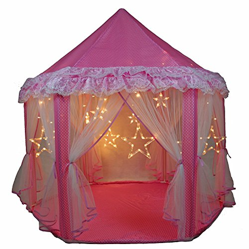Skyeyarc Princess Castle Play Tent With Star Lights String