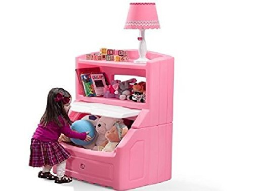Step2 Lift And Hide Bookcase Toy Box Storage Chest For Kids Durable Plastic Bookshelf Toys