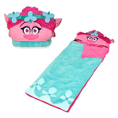 Dreamworks Trolls Poppy Hooded Sherpa Slumber Sleeping Bag