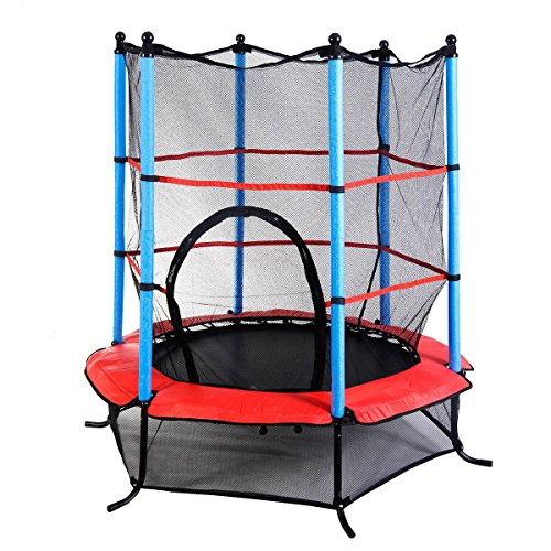 mini trampoline with enclosure giantex 55 mini jumping trampoline w safety 7517